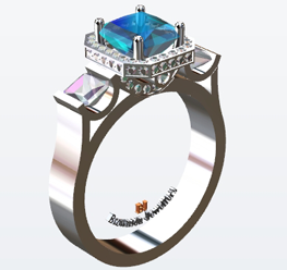 custom made rings CAD