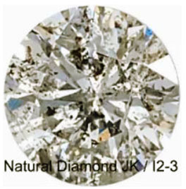 Diamond showing inclusions