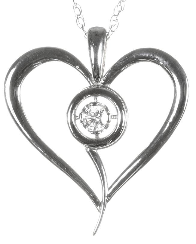 lab diamond heart